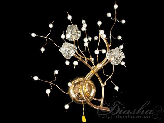 Такой галогеновый светильник – это действительно настоящее произведение современного осветительного искусства!Сколько фантазии и вдохновения вложено дизайнерами в этот светильник. Только одним своим присутствием он способен полностью преобразить интерьер Вашей роскошной спальни или уютной гостиной. Как изысканны переплетения классических стилей и современных мотивов, воплощенные в стекле и металле!Это очаровательное бра может быть укомплектовано зелеными, белыми, розовыми и коричневыми камнями. Исполнение металлических частей возможно в золоте и хроме.