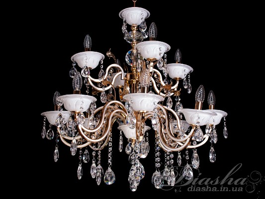 Большая классическая люстра на 12 лампЛюстры классика, Хрустальные