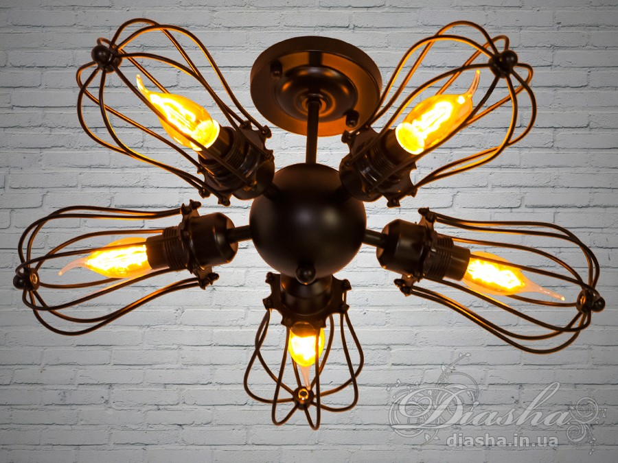 Лаконичный и в тоже время очень стильный дизайн этого светильника на 5 ламп в стиле лофт подойдет для ценителей минимализма и свободы мысли в интерьере.Стиль «Лофт» сейчас очень популярен, его любят как творческие личности, так и весьма практичные люди, предпочитающие комфорт и простоту в интерьере. Люстры в стиле «лофт» идеально впишутся в современные дома, квартиры, кафе, арт-пространства, коворкинги, квеструмы. За счет регулировки шнура можно подобрать оптимальную высоту светильника.Светильники Лофт располагают в интерьере строго, но с некоторой нелинейностью. Для создания ощущения атмосферы не раз перестроенного старого производственного помещения или подпольного бутлегерского бара.Идеально сочетается с лампой Эдиссона.Лампа в комплект не входит.