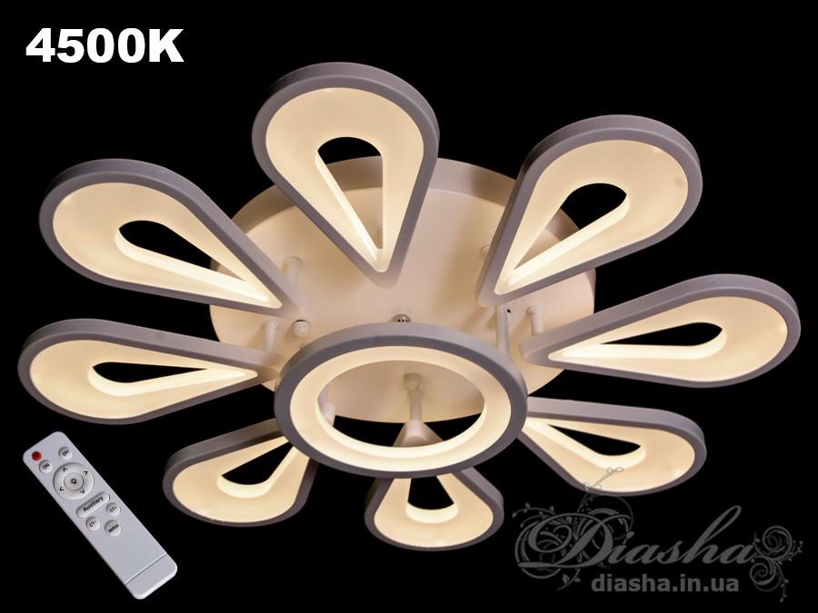 Потолочная LED-люстра с диммером, 120WПотолочные люстры, Светодиодные люстры, Люстры LED, Потолочные