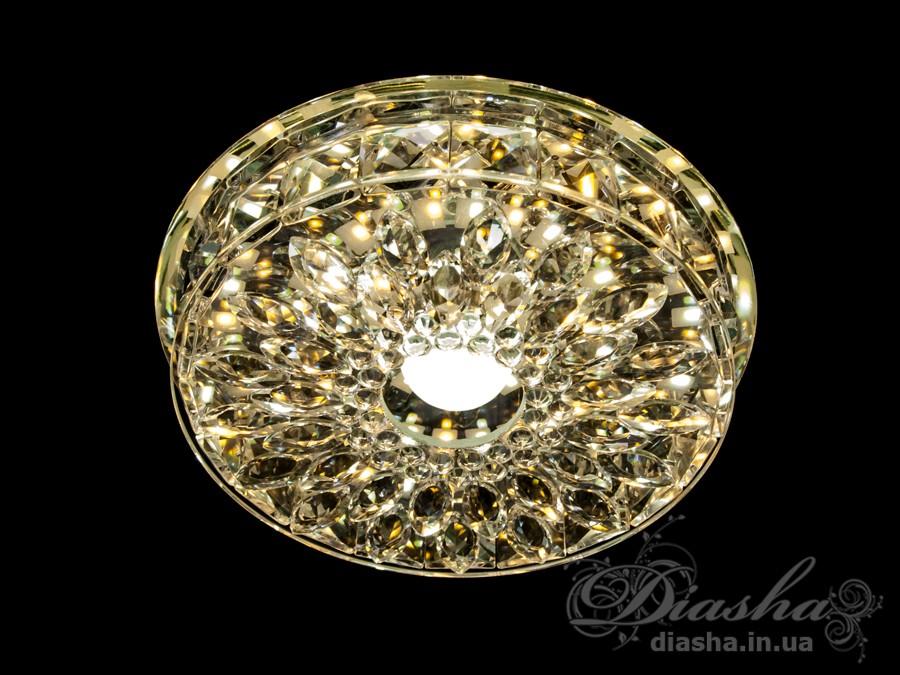 Хрустальный светодиодный точечный светильник 15ВтВрезка, Точечные светильники, Хрустальные точечные светильники, Накладные точечные светильники