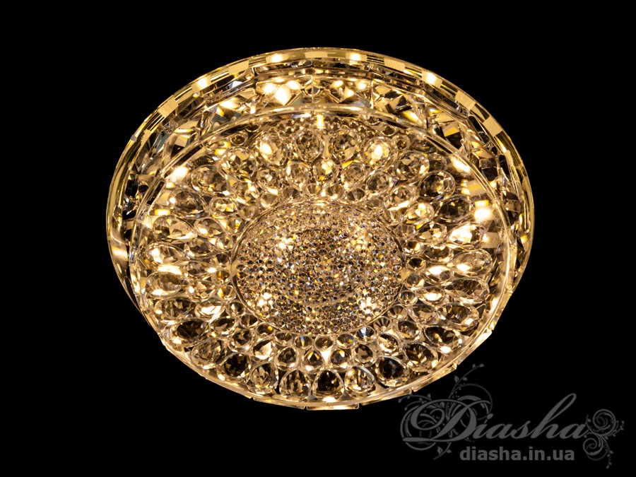 Хрустальный светодиодный точечный светильник 15ВтВрезка, Точечные светильники, Хрустальные точечные светильники