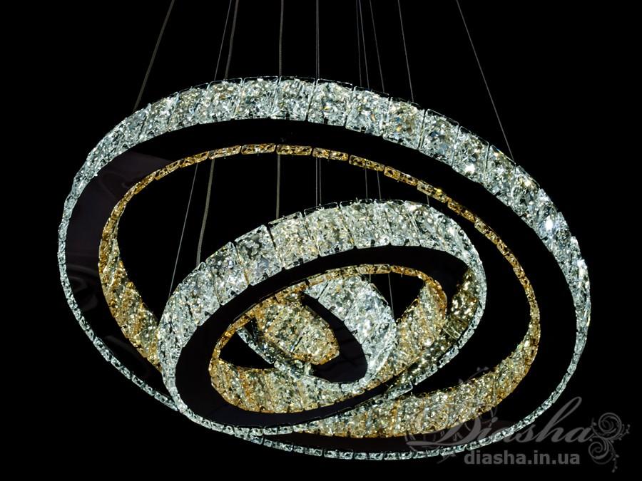 Хрустальная светодиодная люстра-подвес, 85WСветодиодные люстры, Люстры LED, Подвесы LED, Новинки