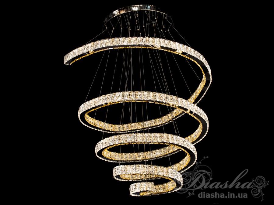 Хрустальная светодиодная люстра-подвес, 210WСветодиодные люстры, Люстры LED, Подвесы LED
