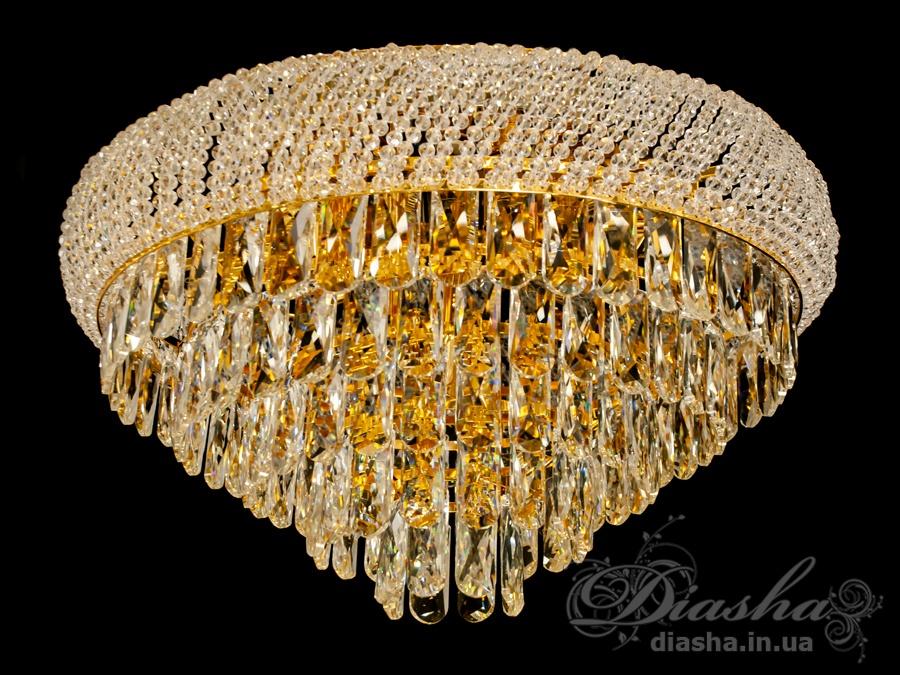 Современная потолочная хрустальная люстра на 13 лампЛюстры классика, Хрустальные люстры, Новинки