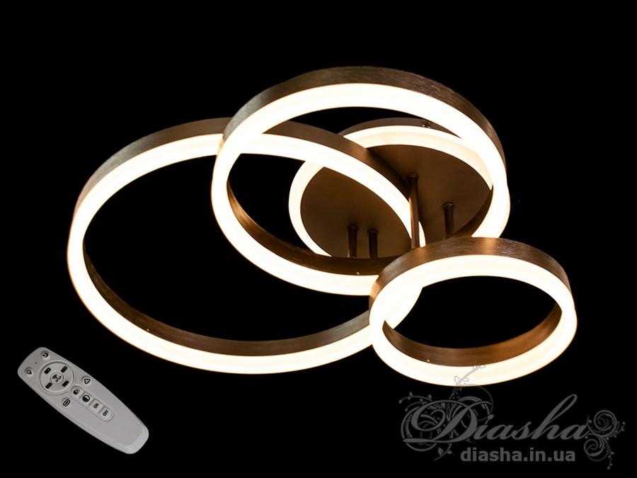Потолочная LED-люстра с диммером и подсветкой, 100WПотолочные люстры, Светодиодные люстры, светодиодные панели, Люстры LED, Новинки