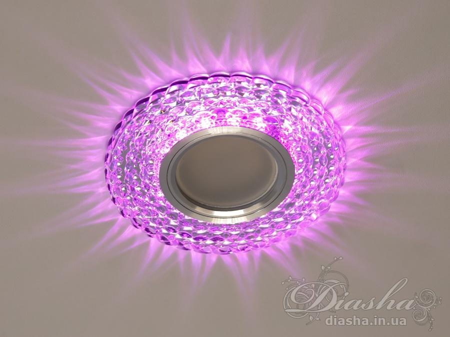 Светильник со встроенной светодиодной подсветкойВрезка, Точечные светильники из оптической смолы, Точечные светильники MR-16, Новинки