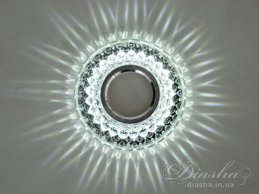 Точечные светильники с LED подсветкой
