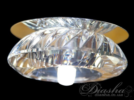 Хрустальный точечный светильникВрезка,  Точечные светильники, Хрустальные точечные светильники