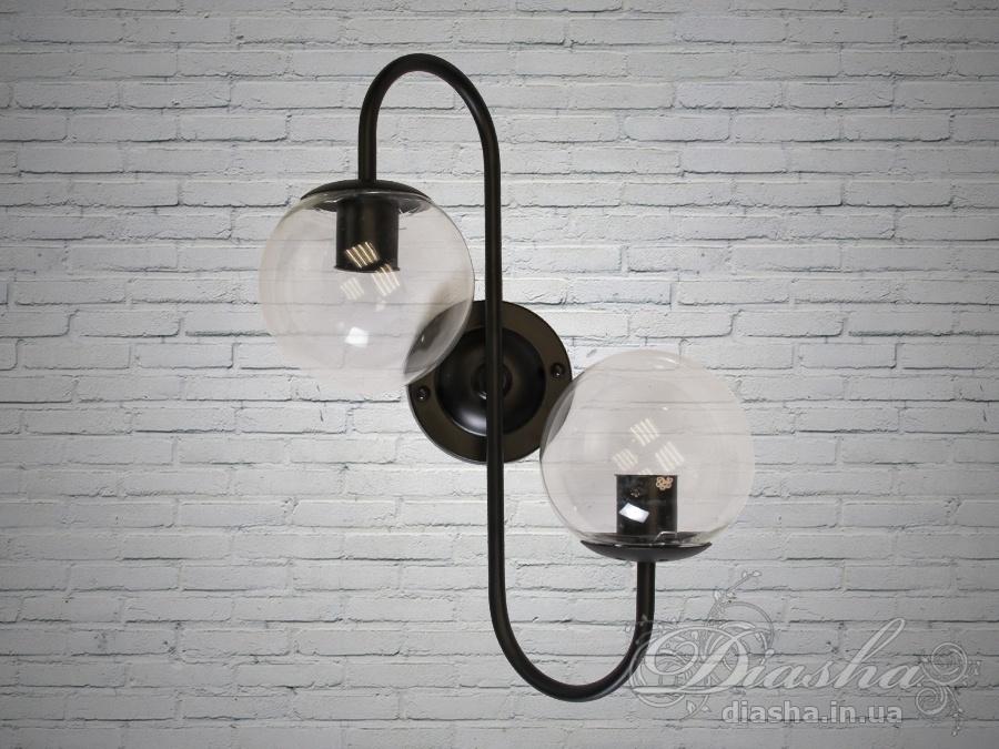 Настенный светильник «Молекула» в стиле лофтСветильники