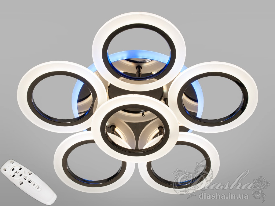 Потолочная светодиодная люстра с диммером 75WПотолочные люстры, Светодиодные люстры, Люстры LED, Потолочные