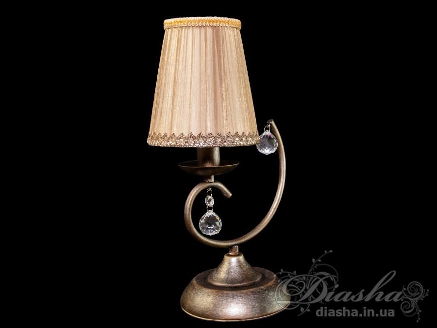 Настольная лампа классическим кремовым абажуромНастольные лампы, Торшеры