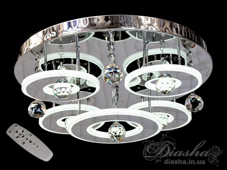 Светодиодные люстры «торт» с димером, 130WПотолочные люстры, Люстра