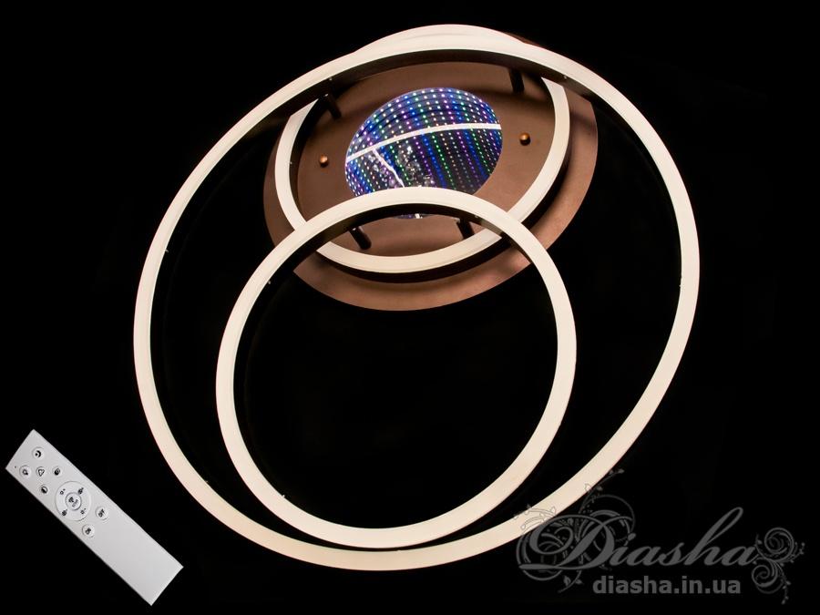 Потолочная LED-люстра с 3d эффектом, 105WПотолочные люстры, Светодиодные люстры, Люстры LED, Потолочные, Новинки