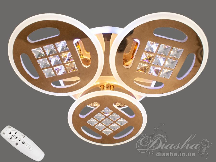 Потолочная светодиодная люстра с диммером 115WПотолочные люстры, Светодиодные люстры, Люстры LED, Потолочные, Новинки
