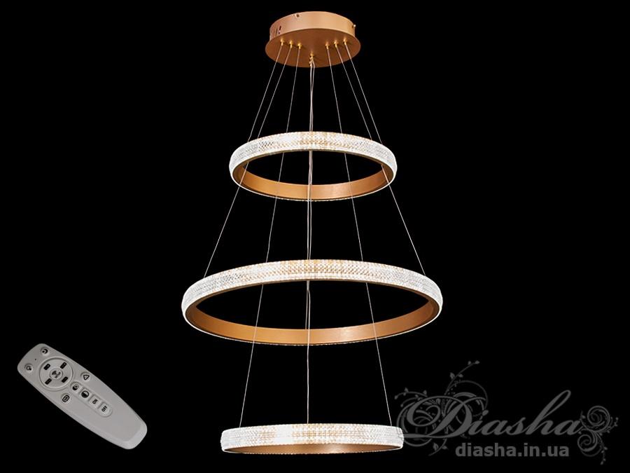 Современная светодиодная люстра с диммером, 115WСветодиодные люстры, Люстры LED, Подвесы LED, Новинки