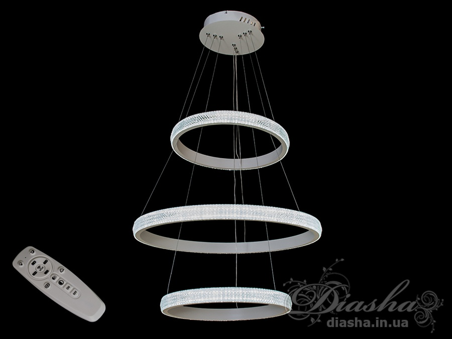 Современная светодиодная люстра с диммером, 115WСветодиодные люстры, Люстры LED, Подвесы LED