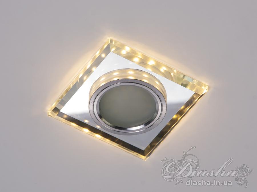 Обычно точечные светильники предназначаются для подвесных потолков и для подсветки различных нишили рабочей поверхности. Конструктивно точечный светильник состоит из двух частей: видимой - декоративной и встроенной – функциональной. Функциональная часть светильников состоит из каркаса, куда вставляется источник света и крепится декоративная часть, а также зажимов, которые предназначены для крепления светильника к потолку. Разнообразие декоративной части точечных светильниковпозволяет сделать Ваш интерьер неповторимым. Главные качества современных точечных светильников – это равномерное освещение всего помещения с возможностью акцентирования необходимых деталей интерьера.В светильник встроена подсветка мощностью 3Вт (цветовая температура 3200K - тёплый белый).Для оптовых покупателей отпускается только ящиками по 50шт.Лампа MR-16 в комплект не входит.