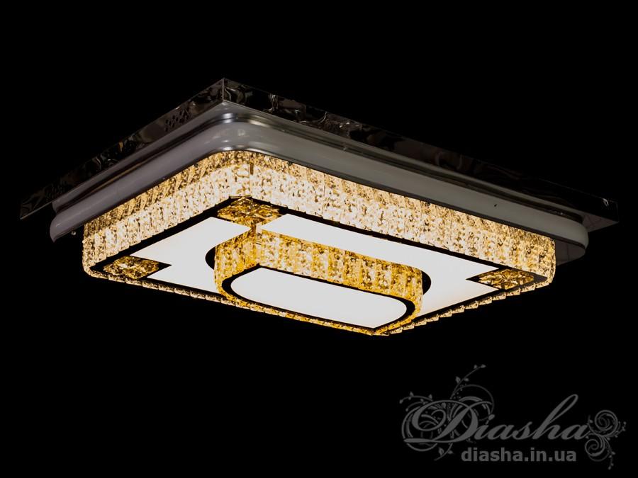 Изящные накладные светодиодные светильники предназначены для создания яркого светодиодного освещения с регулируемой цветовой температурой от тёплого белого до холодного белого. И при этом являться украшением интерьера, а не просто утилитарным светильником как обычная светодиодная панель.С выключателя люстра переключается как и любая другая светодиодная люстра. Каждое включение выключение поочередно переводит люстру по следующим режимам: холодный свет, тёплый свет, нейтральный свет.Светодиодный светильник позволяет выбирать режим освещения от времени суток и выполняемых под его светом задач.Потолочные люстры,Светодиодные люстры,Люстра