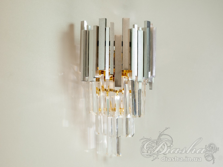 Современный хрустальный настенный светильникБра классические, Хрустальные люстры