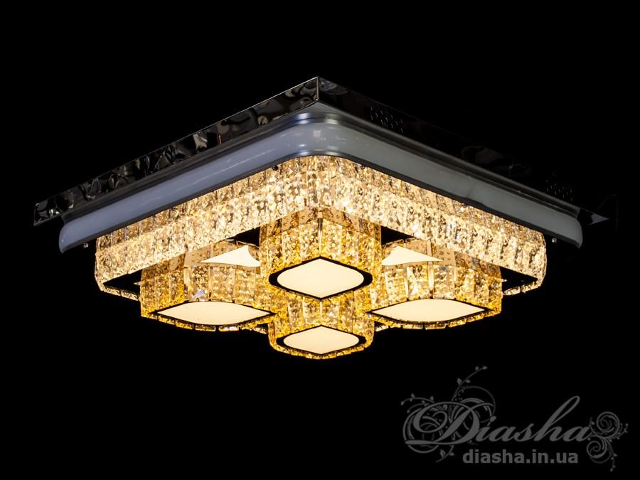 Изящные накладные светодиодные светильники предназначены для создания яркого светодиодного освещения с регулируемой цветовой температурой от тёплого белого до холодного белого. И при этом являться украшением интерьера, а не просто утилитарным светильником как обычная светодиодная панель. С выключателя люстра переключается как и любая другая светодиодная люстра. Каждое включение выключение поочередно переводит люстру по следующим режимам: холодный свет, тёплый свет, нейтральный свет. Светодиодный светильник позволяет выбирать режим освещения от времени суток и выполняемых под его светом задач. Потолочные люстры,Светодиодные люстры,Люстра