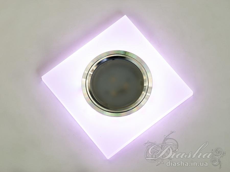 Акриловые точечные светильники с розовой подсветкойВрезка, Точечные светильники, Точечные светильники MR-16, Новинки