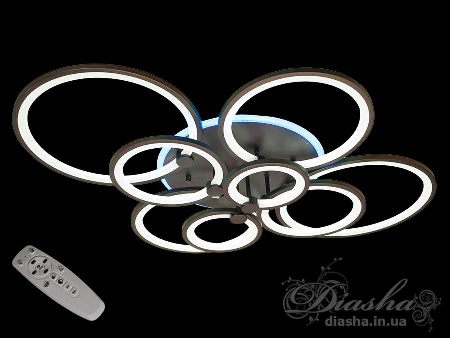Потолочная LED-люстра с диммером и подсветкой, 250WПотолочные люстры, Светодиодные люстры, Люстры LED, Потолочные, Новинки