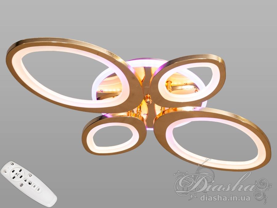 Потолочная светодиодная люстра с диммером 85WПотолочные люстры, Светодиодные люстры, Люстры LED, Потолочные