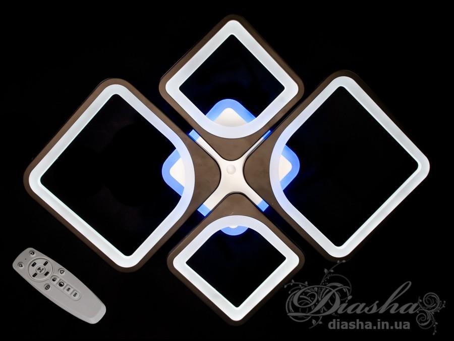 Потолочная LED люстра с димером и цветной подсветкой 100WПотолочные люстры, Светодиодные люстры, Люстры LED, Потолочные, Новинки