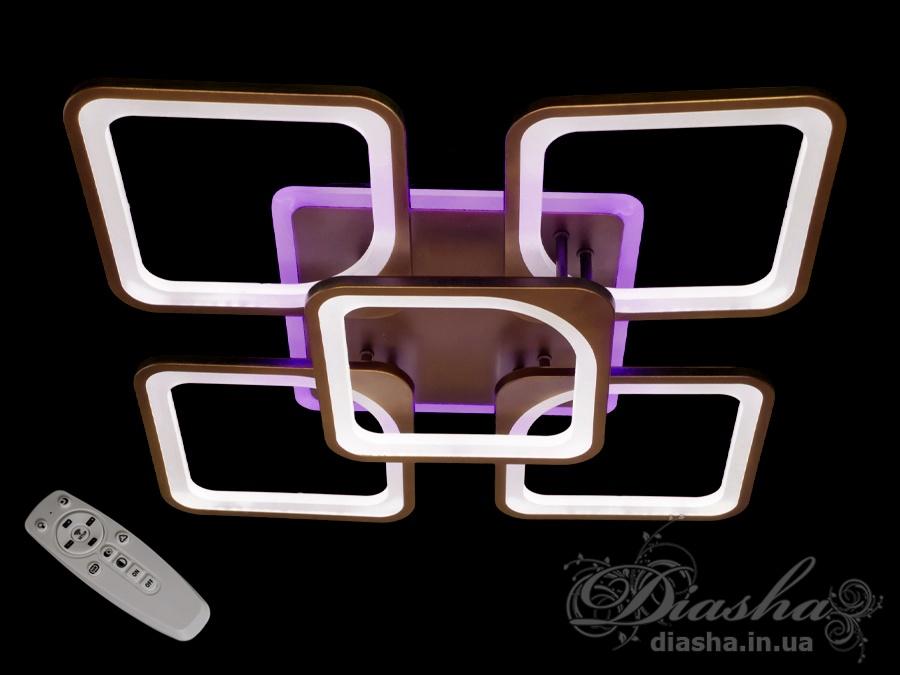 Світлодіодна люстра з диммером, 125WПотолочные люстры, Светодиодные люстры, Люстры LED, Потолочные, Новинки