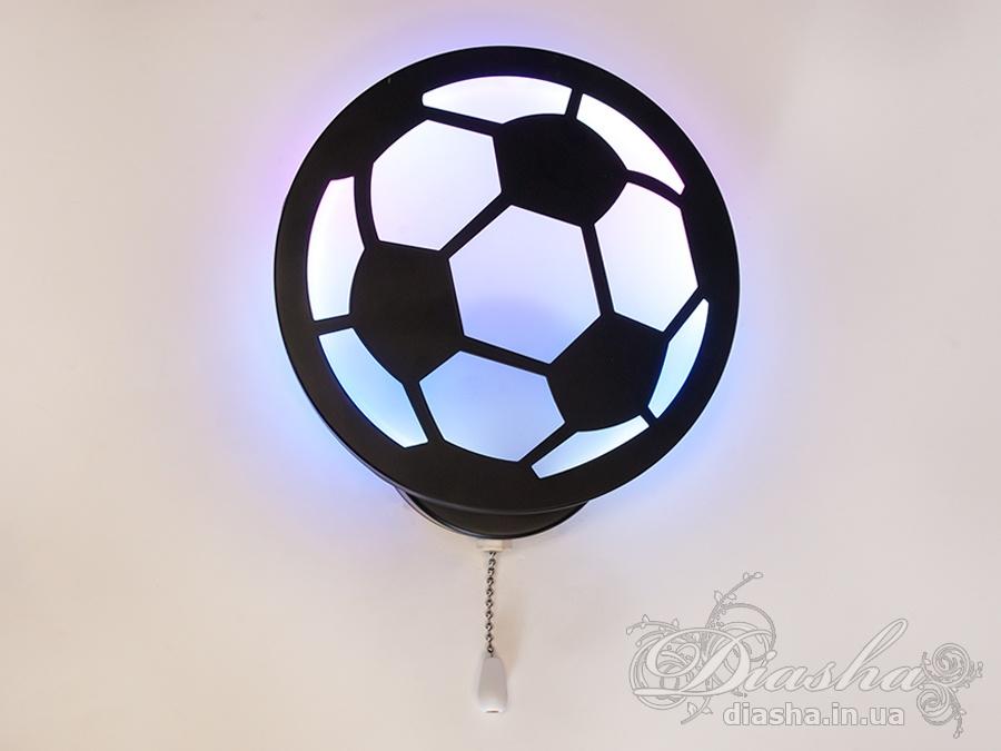 Долгожданная новинка — бра в виде мяча для детских. Прекрасно сочетается с люстрой 8065, станет изюминкой вашего интерьера. Цветной мячик понравится не только детям, но и взрослым.Мощность светодиодного настенного светильника 18 ватт, выполнен из акрила, крепится на планку, выключатель в виде шнурка. Имеет 3 режима — цветной (RGB), тёплый (2700К) и совместный (RGB+тёплый).Разбить такой светильник очень трудно — ведь в нём нет стеклянных элементов.