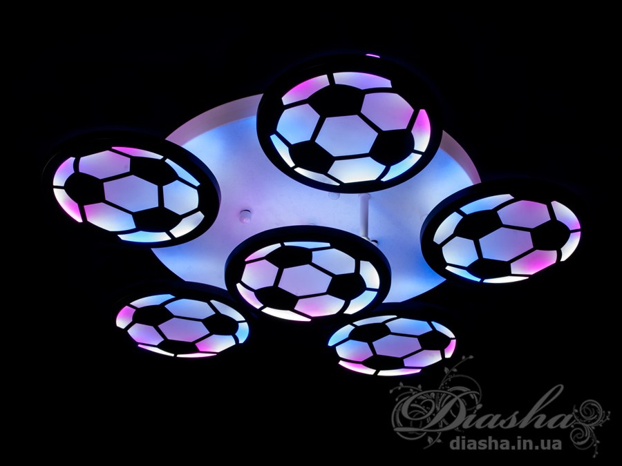 Перед Вами совсем новое и необычное исполнение плафонов, обрамляющих LED лампы. Такая люстра запросто подойдет под любой интерьер – классический, современный и даже в стиле «хай-тек».В дополнение к стандартным режимам светодиодной люстры, добавлен режим цветной подсветки. Люстра способна наполнить комнату приятным приглушенным цветным светом. Светодиодные люстры этой серии стали идеальными светильниками для детской. Отсутсвие стеклянных частей и припотолочная компоновка люстры позволяет пережить ей любое детское веселье, а приятный многоцветный свет можно смело оставлять как ночник.