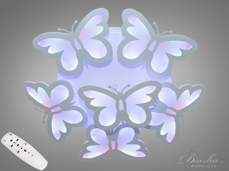 Сверхъяркая светодиодная люстра с цветной подсветкой 105WПотолочные люстры, Светодиодные люстры, Люстры LED, Потолочные, Новинки
