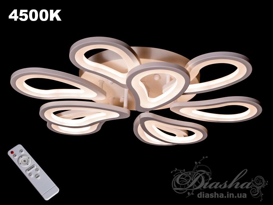Потолочная LED-люстра с диммеромПотолочные люстры, Светодиодные люстры, Люстры LED, Потолочные, Новинки