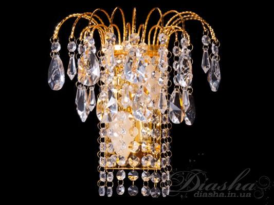 Хрустальное браБра классические, Хрустальные бра, Бра LED, Светодиодные