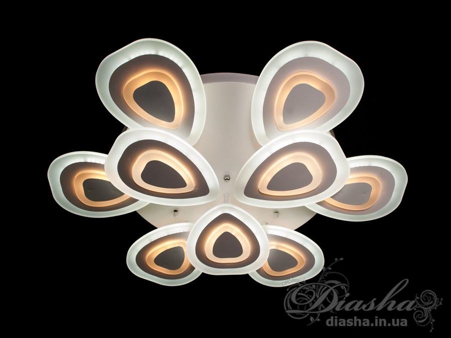 Потолочная светодиодная люстра, WПотолочные люстры, Светодиодные люстры, Люстры LED, Потолочные, Новинки