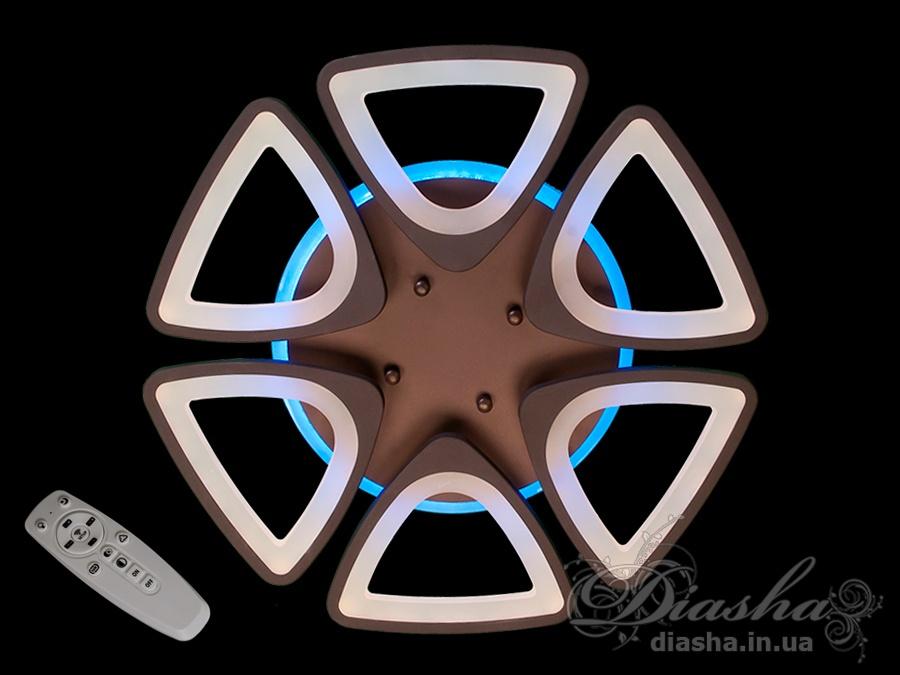 Потолочная LED люстра с димером и подсветкой 120WПотолочные люстры, Светодиодные люстры, Люстры LED, Потолочные, Новинки