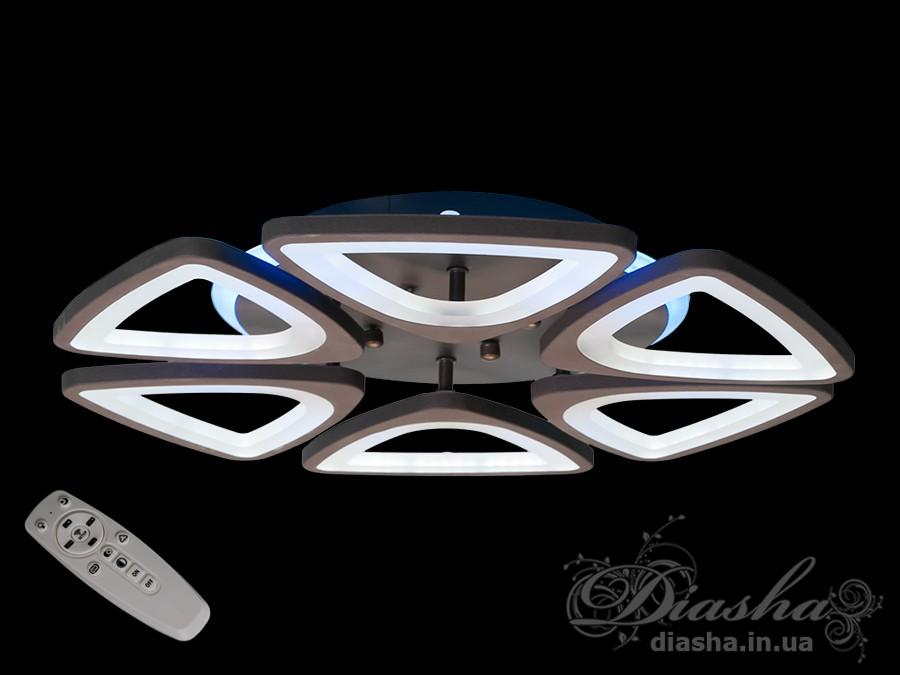 Потолочная LED-люстра с диммером и подсветкой, 120WПотолочные люстры, Светодиодные люстры, Люстры LED, Потолочные, Новинки