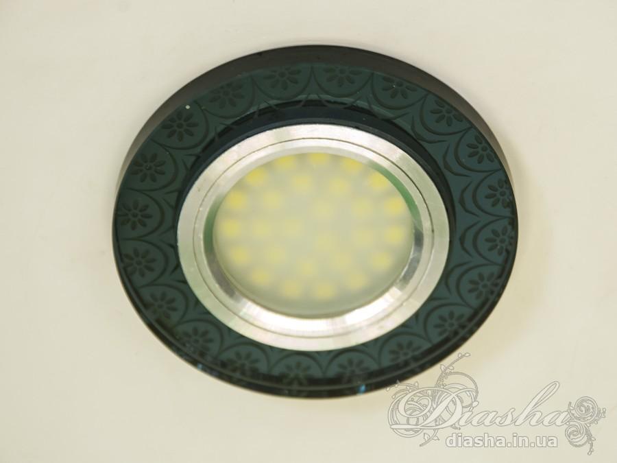 Обычно точечные светильники предназначаются для подвесных потолков и для подсветки различных нишили рабочей поверхности. Конструктивно точечный светильник состоит из двух частей: видимой - декоративной и встроенной – функциональной. Функциональная часть светильников состоит из каркаса, куда вставляется источник света и крепится декоративная часть, а также зажимов, которые предназначены для крепления светильника к потолку. Разнообразие декоративной части точечных светильниковпозволяет сделать Ваш интерьер неповторимым. Главные качества современных точечных светильников – это равномерное освещение всего помещения с возможностью акцентирования необходимых деталей интерьера.В светильник встроена подсветка мощностью 3Вт (цветовая температура 4000K - нейтральный белый).Для оптовых покупателей отпускается только ящиками по 50шт.Лампа MR-16 в комплект не входит.