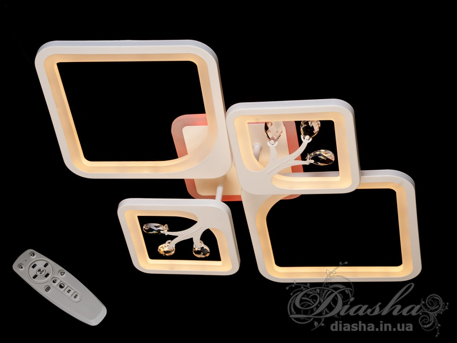 LED люстра с димером и подсветкой, 190WПотолочные люстры, Светодиодные люстры, Люстры LED, Потолочные, Новинки