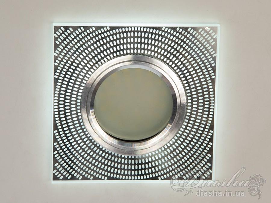 Точечный светильник со встроенной LED подсветкойВрезка, Точечные светильники, Точечные светильники MR-16, Новинки