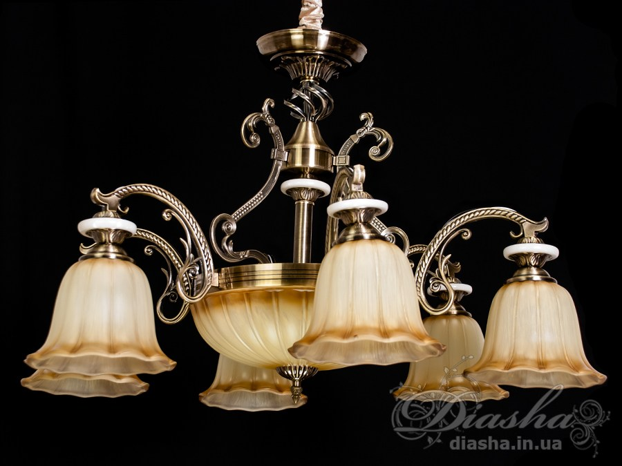 Люстра в античном стиле на 8 лампЛюстры классика, Римская серия, Новинки
