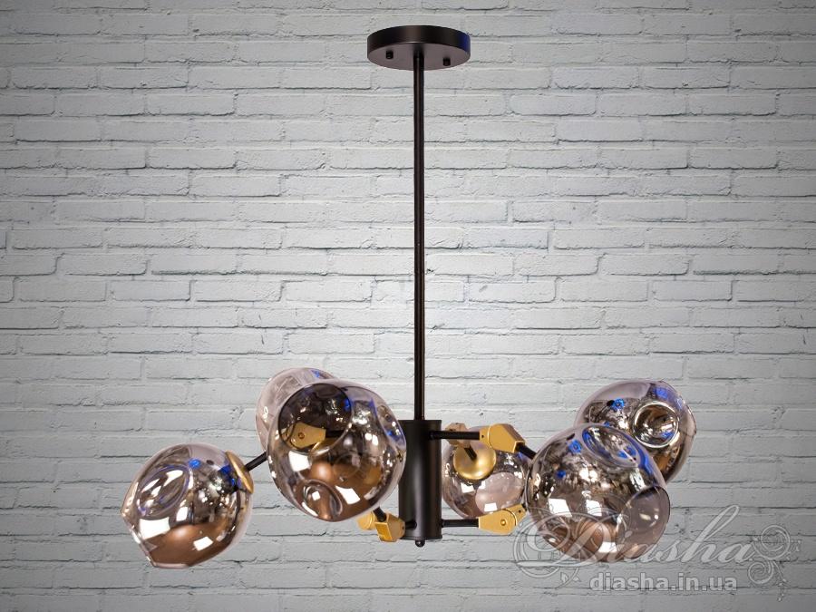 Лаконичный и в тоже время очень стильный дизайн этой люстры на 10 ламп в стиле лофт подойдет для ценителей минимализма и свободы мысли в интерьере.Стиль «Лофт» сейчас очень популярен, его любят как творческие личности, так и весьма практичные люди, предпочитающие комфорт и простоту в интерьере. Люстры в стиле «лофт» идеально впишутся в современные дома, квартиры, кафе, арт-пространства, коворкинги, квеструмы. За счет регулировки шнура можно подобрать оптимальную высоту светильника.Несмотря на похожесть люстры на привычных представителей серии