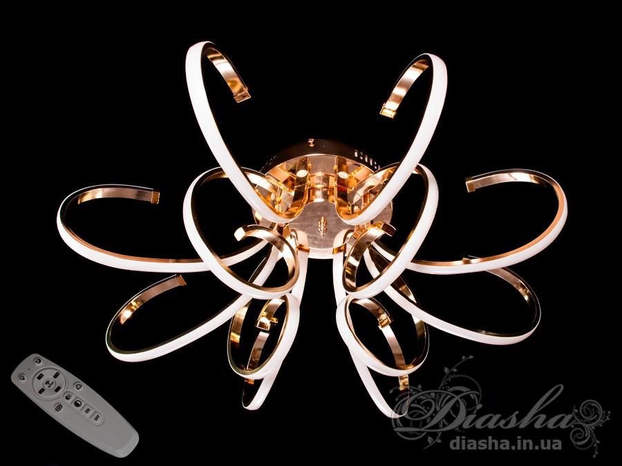 Потолочная светодиодная люстра с димеромПотолочные люстры, Светодиодные люстры, Люстры LED, Потолочные, Новинки