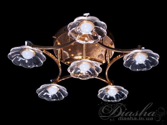 Светодиодная люстра с дополнительной подсветкойСветодиодные люстры, Детские, Потолочные