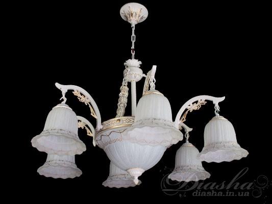 В данной серии имеются бра на 1 и 2 лампочки, а также люстры на 3, 5, 9, 11, 15 лампочек.