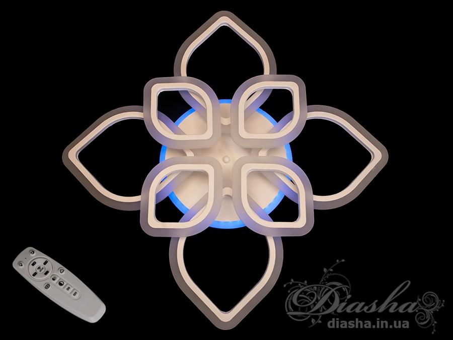 Потолочная LED-люстра с диммером и подсветкой, 115WПотолочные люстры, Светодиодные люстры, Люстры LED, Потолочные, Новинки