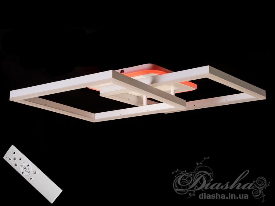 Потолочная LED-люстра с диммером и подсветкой, 85WПотолочные люстры, Светодиодные люстры, Люстры LED, Потолочные, Новинки