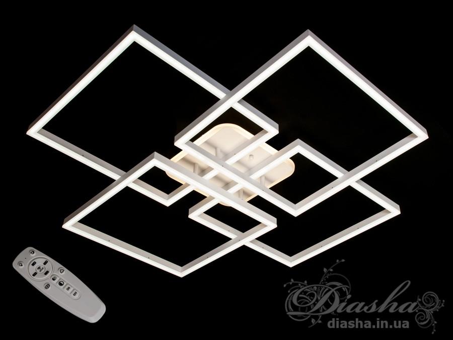 Потолочная LED-люстра с диммером и подсветкой, 175WПотолочные люстры, Светодиодные люстры, Люстры LED, Потолочные, Новинки