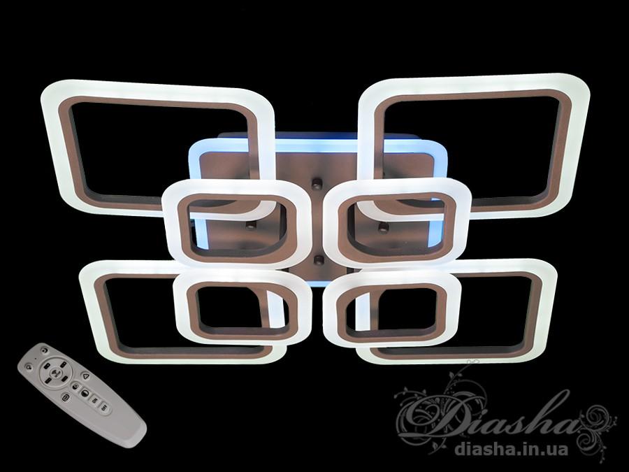 Потолочная LED-люстра с диммером и подсветкой, 155WПотолочные люстры, Светодиодные люстры, Люстры LED, Потолочные, Новинки
